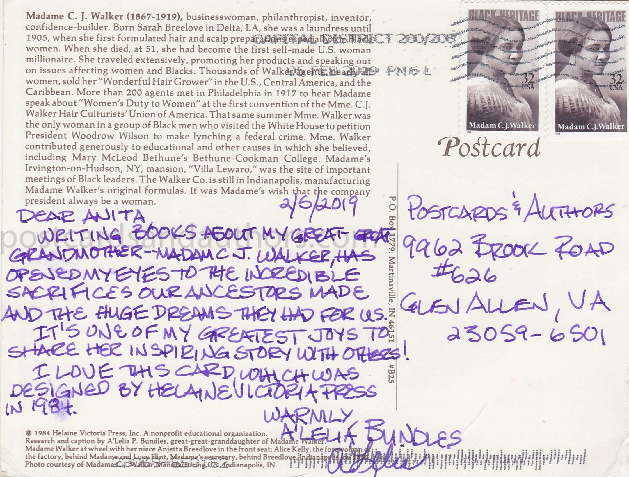 A'Lelia Bundles Madam C. J. Walker 1T