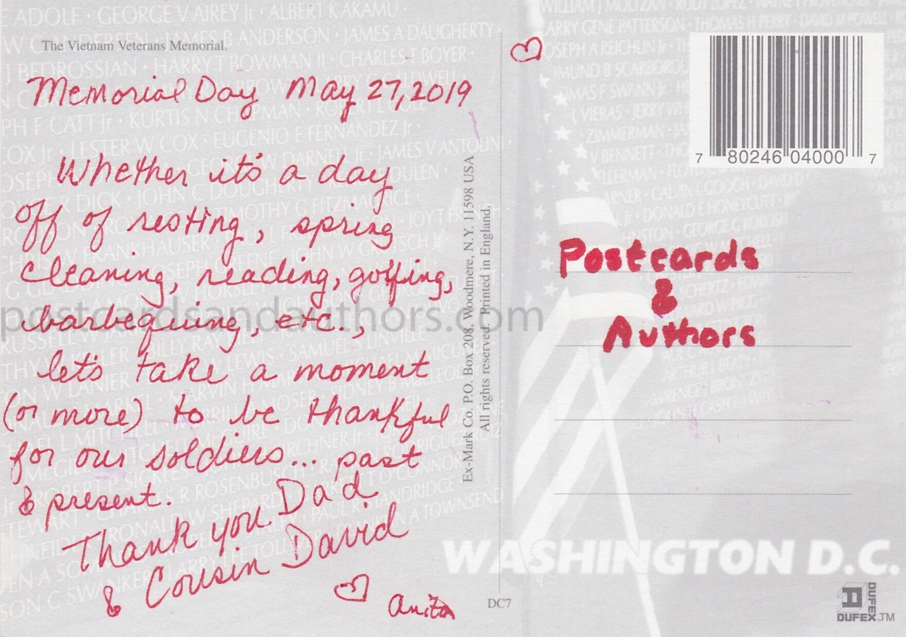 Postcards and Authors 3T